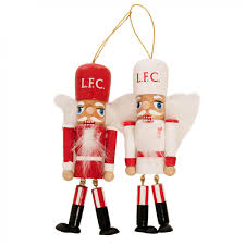 lfc 2 pack nutcracker decorations liverpool fc official store
