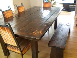 bench rustic dining table and bench charming rustic dining room