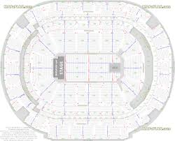 dallas american airlines center end stage concert plan of the