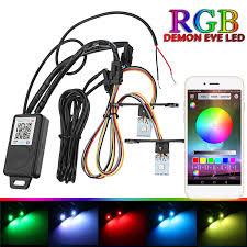 ring light effect app car headlights retrofit rgb demon eye halo ring l bulb led