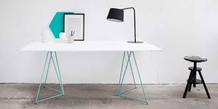 bureau traiteau 39 idées déco de tréteaux pour créer une table ou un bureau