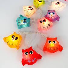 owl bird fancy lantern string party fairy kid bedroom home child