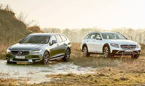mercedes cross country suv wagons mercedes e class all terrain vs volvo v90 cross