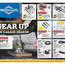 princess auto weekly flyer gear up for garage season en sep