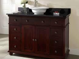 Small Bathroom Vanity With Vessel Sink Bathroom Vanity Appealing Granite In Brown Color With Cool Dark