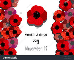 remembrance day vector horizontal illustration remembrance stock