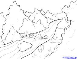 How To Draw Landscapes by Drawing Landscapes Step By Step How To Draw Mountains Stepstep
