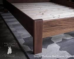 Simple Platform Bed Frame Walnut Simple Platform Bed Frame With Curved Headboard Custom