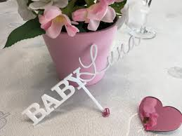 new baby decor personalized names cake toppers cake centerpiece