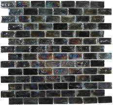 artistry in mosaics uniform brick black glass uniform brick tile