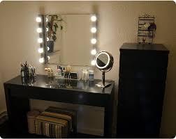 vanity make up table makeup vanity with lights ikea black tri folding oval mirror wood