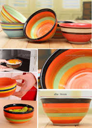 Rainbow Home Decor by 16 Cm Hand Painted Rainbow Bowl Creative Mixed Color Porcelain