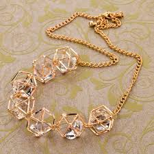 luxury gold necklace images Luxury gold filled statement necklace 2016 fashion crystal jewelry jpg