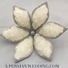 sofreh aghd supplies silver rock candy nabat flower for sofreh aghd wedding