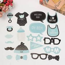 baby boy welcome home decorations 20pcs set lovely cute paper beard baby shower photo booth prop new