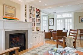 Bookcase Decorating Ideas Living Room Built Ins Around Fireplace Family Room Traditional With Black