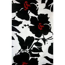 Red White Black Rug Incredible Design Ideas Of Black And White Color Rugs Decorating