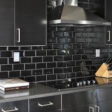 black backsplash in kitchen black subway tile backsplash design ideas