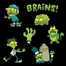 cartoon halloween picture glow in the dark zombie stickers the second batch halloween