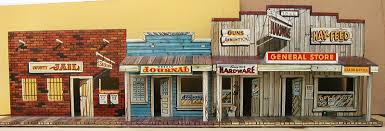 Cowboy Style Home Decor by Western Days Storefronts Town With Jail Front Western