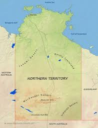 Australian Outback Map Northern Territory Maps