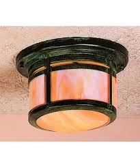 flush mount craftsman lighting arroyo craftsman bcm 8 berkeley 10 inch wide 1 light outdoor flush