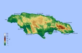 Jamaica Map Detailed Elevation Map Of Jamaica Jamaica North America