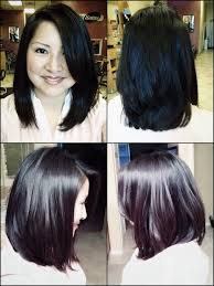 who do aline haircuts work for long layered a line bob with side bang all angle view blow