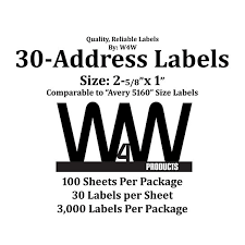 11 mailing label templates 30 per sheet 4 template for address