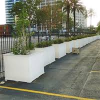 pvc planters large rectangular outdoor self watering planter boxes