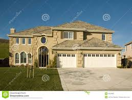 high end tract home stock image image of architect parking 4554893