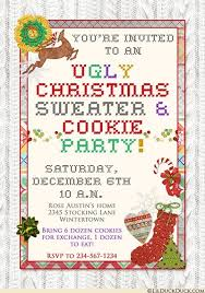 ugly christmas sweater party invitations tacky u0026 bright