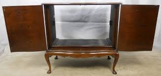 2 Door Tv Cabinet Style Mahogany Two Door Shaped Front Tv Cabinet Sold
