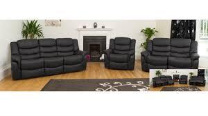 leather sofa recliner set leather sofa recliner in black brown or cream homegenies