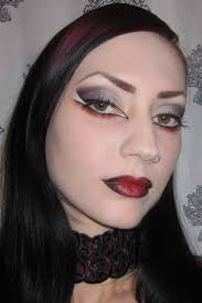 Black Eye Makeup For Halloween Glitter Is My Smokey Black Gray And Red Gothic Vampire