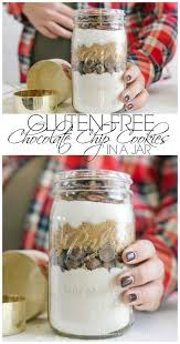 gluten free chocolate chip cookies in a jar