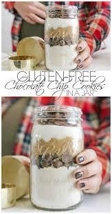 gift cookies gluten free chocolate chip cookies in a jar