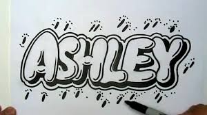 how to draw ashley in graffiti letters write ashley in bubble