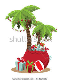 palm tree christmas tree lights christmas warm climate palm tree christmas stock illustration