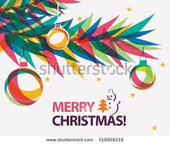 merry christmas modern merry christmas card vector illustration modern stock vector