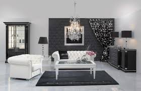 Black And White Modern Rug by Living Room Immaculate White Living Room Ideas With Glass Crystal