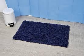Loop Bath Rug Soft Shaggy Loop Bath Mat Rugs Blue 29 5 L X 17 W