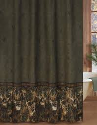 Camouflage Bathroom Whitetails 72 X 72 Shower Curtain
