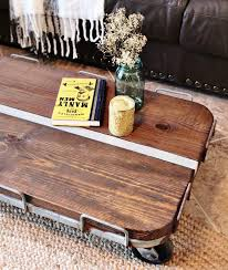 Decor For Coffee Table Industrial Cart Coffee Table Diy Refresh Restyle