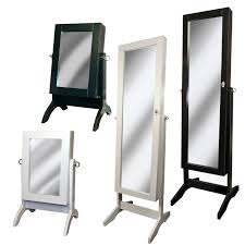 Jewelry Mirror Armoire Black Or White Mirror Jewellery Armoire Cabinet Floor Standing Or