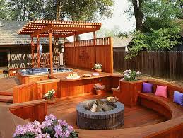 Deck Firepit Backyard Patios With Pits Classic Ideas And Tips For Custom