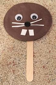paper plate groundhog puppet craft all kids network