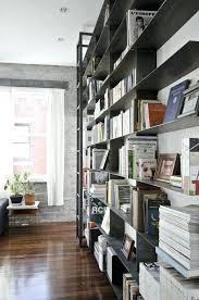 loft bookshelf in white lacquered embossed loft style bookcase