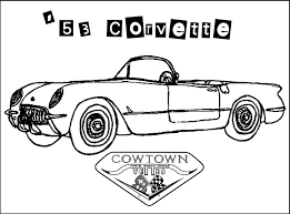 cowtown vettes kids coloring book pages