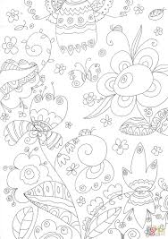 forest flowers coloring page free printable coloring pages